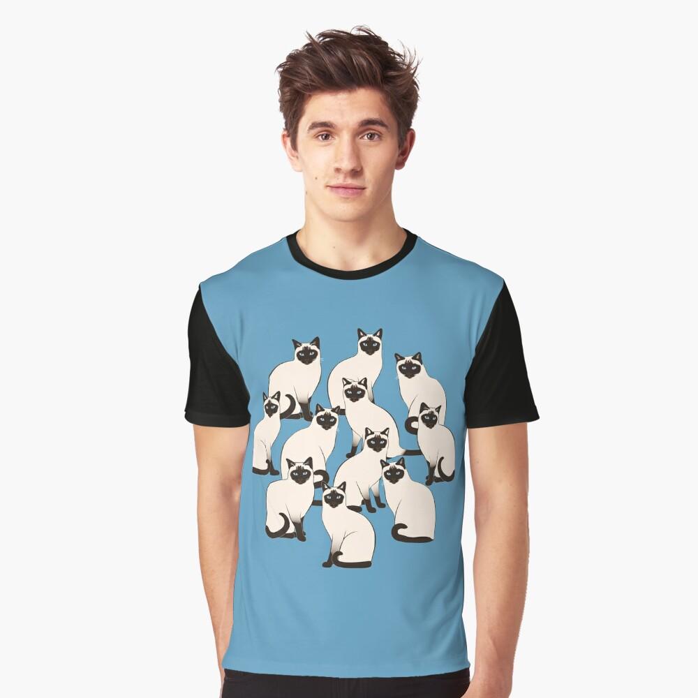 Siamese Cats Circle Graphic T-Shirt