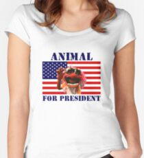 Animal for President Women's Fitted Scoop T-Shirt
