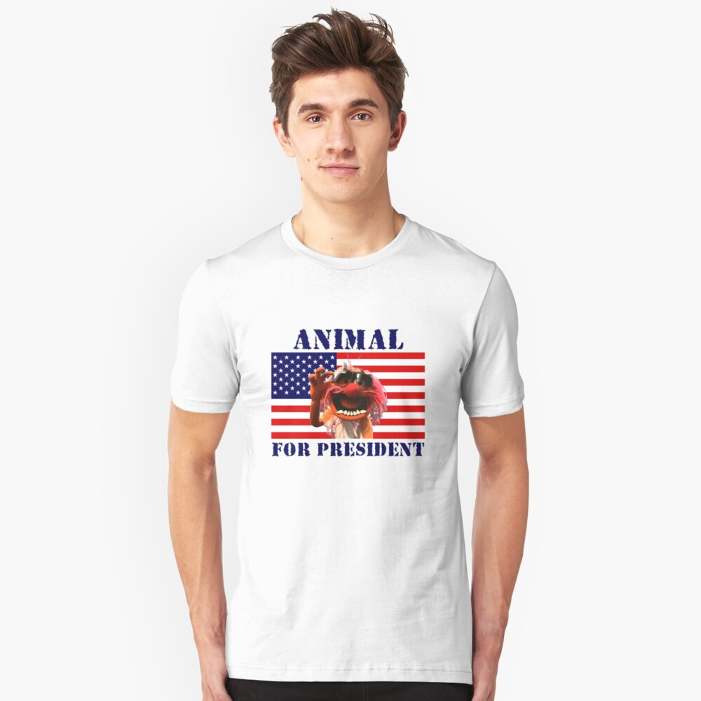 Animal for President Unisex T-Shirt Front