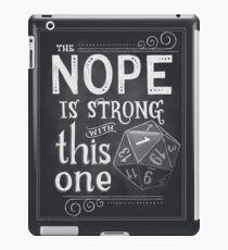 Das NOPE ist stark mit diesem iPad-Hülle & Klebefolie