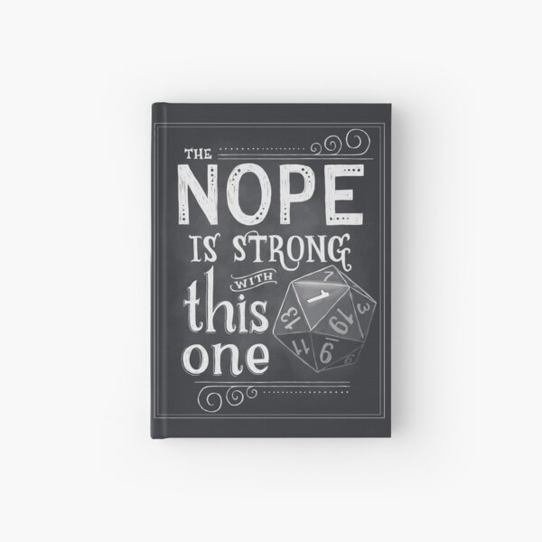 The NOPE is Strong with This One Hardcover Journal