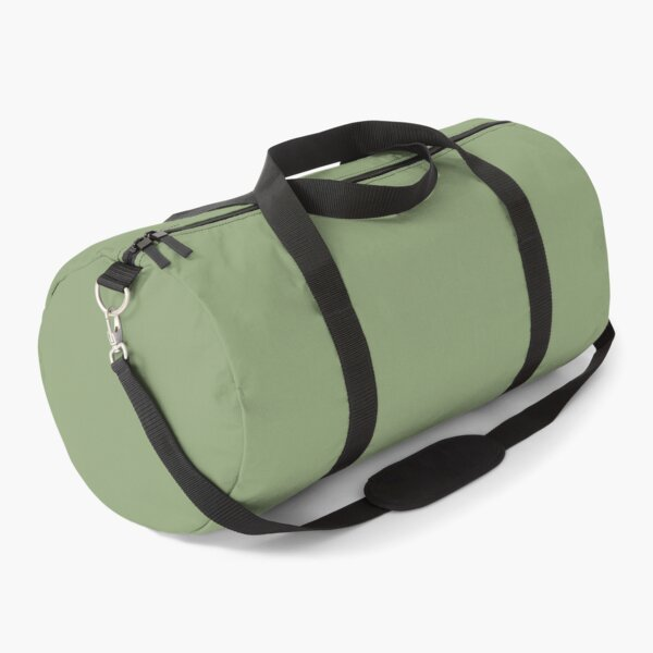 Midtone Soft Green Solid Color Pairs To Sherwin Williams Broccoflower SW 9039 Duffle Bag