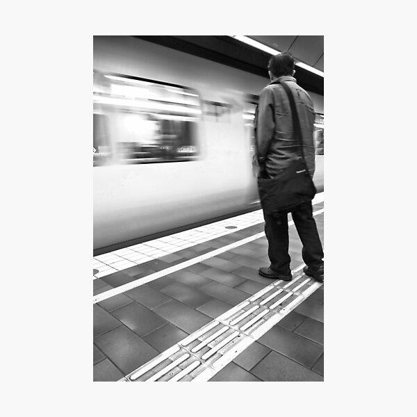 Speeding Train Photographic Print
