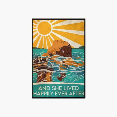 swimming and she lived happily ever after Art Board Print