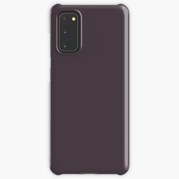 Midnight Mystery Deep Dark Purple Solid Color Pairs To Sherwin Williams Plum Brown SW 6272 Samsung Galaxy Snap Case