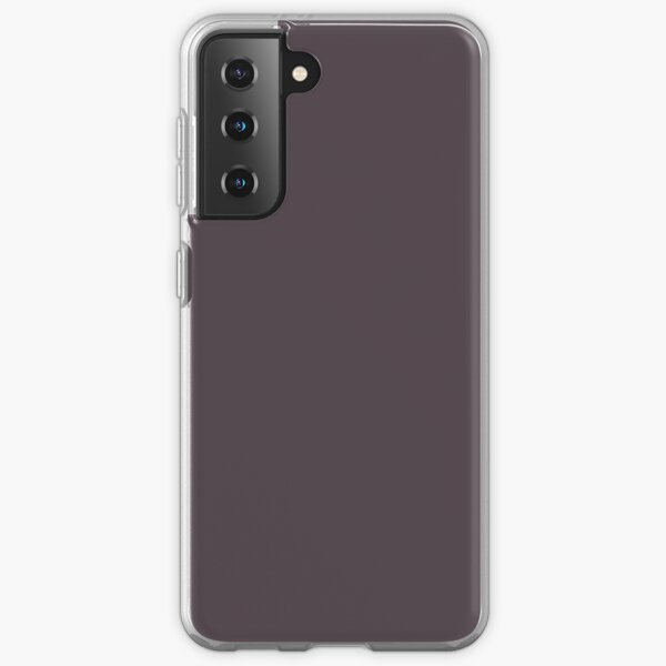Midnight Mystery Deep Dark Purple Solid Color Pairs To Sherwin Williams Plum Brown SW 6272 Samsung Galaxy Soft Case