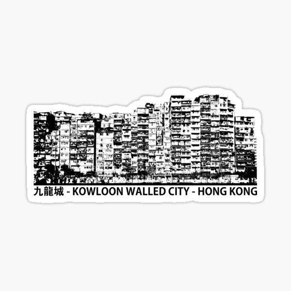 Kowloon Walled City Hong Kong Architecture T-shirt Sticker