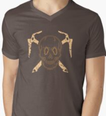 Skull and Cross Axes Men's V-Neck T-Shirt