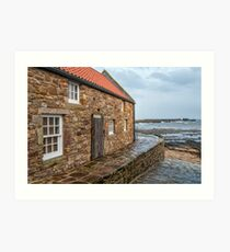Coastal View in Anstruther Art Print