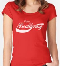 Enjoy Bouldering Women's Fitted Scoop T-Shirt