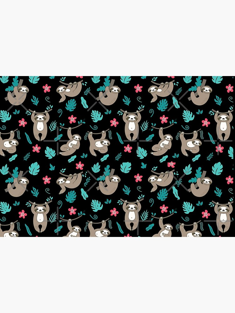 Cute Sloth Pattern by happyhourvibe