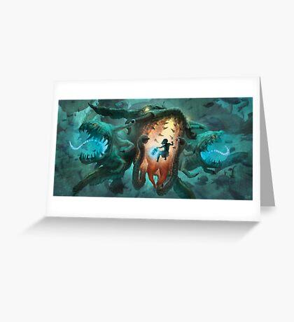 Inoculating the Water Dragon  Greeting Card