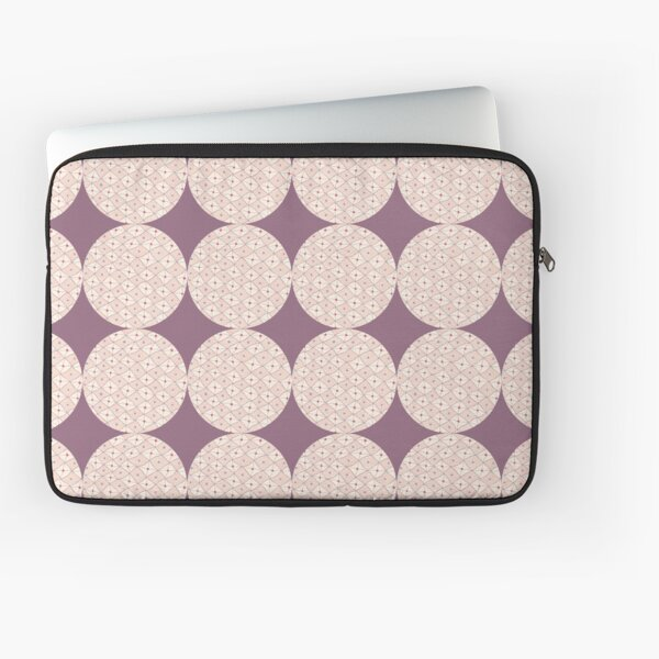 Doodled Checkerboard Circle Laptop Sleeve