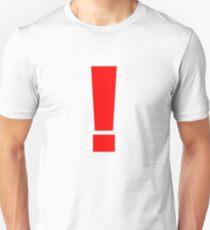 Roter Ausruf Slim Fit T-Shirt