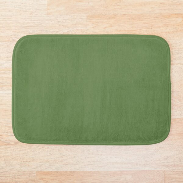 Natural Leaf Green Blend Solid Color Pairs To Sherwin Williams Talipot Palm SW 6726 Bath Mat