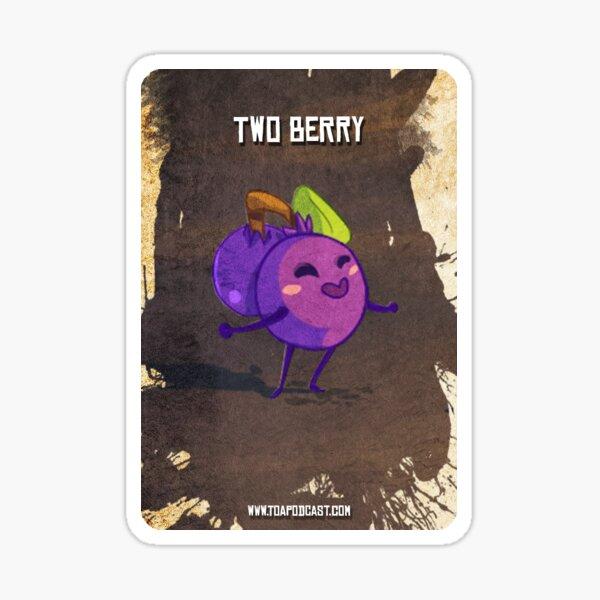 Twoberry Card Sticker