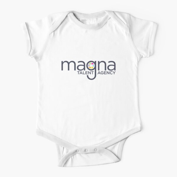 MAGNA Talent Agency (Back Logo) Short Sleeve Baby One-Piece