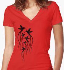 Humming Birds Women's Fitted V-Neck T-Shirt