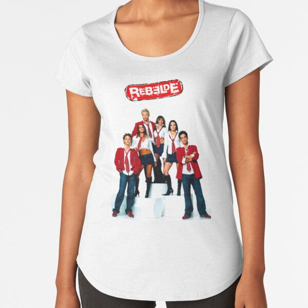 RBD - Rebelde Camiseta premium de cuello ancho