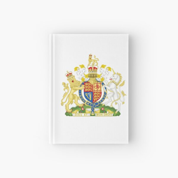 Royal Coat of Arms for the United Kingdom Hardcover Journal