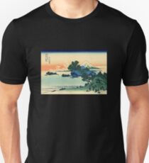 'Shichiri Beach in Sagami Province' by Katsushika Hokusai (Reproduction) T-Shirt