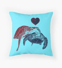Turtles in Love Throw Pillow