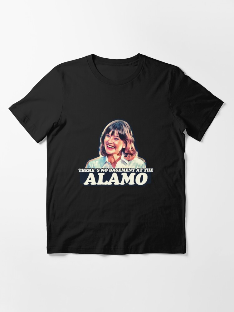 Alternate view of Jan Hooks - There's no basement at the Alamo - Pee Wee's Big Adventure  Essential T-Shirt