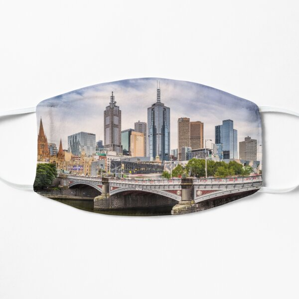 Princes Bridge, Melbourne Flat Mask