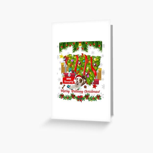 Merry Brittany Christmas Define Naughty tshirt mug mask cards Greeting Card