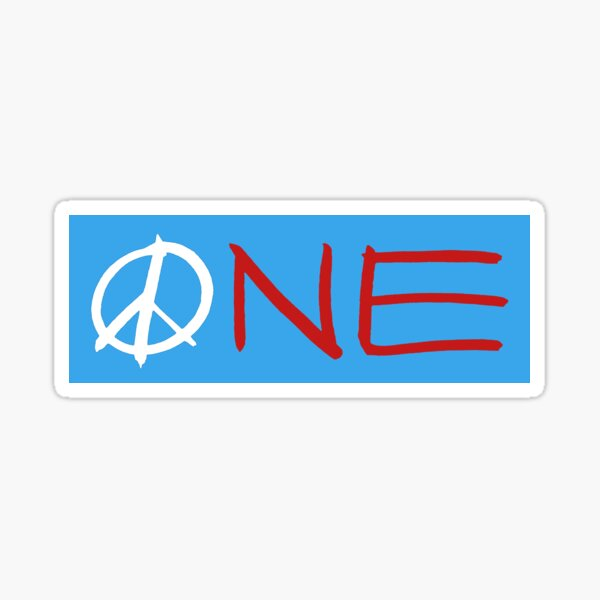 ONE peace sign Sticker