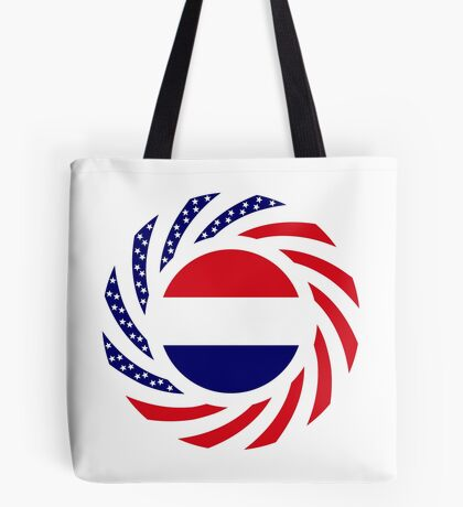 Dutch American Multinational Patriot Flag Series Tote Bag