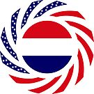 Dutch American Multinational Patriot Flag Series by Carbon-Fibre Media