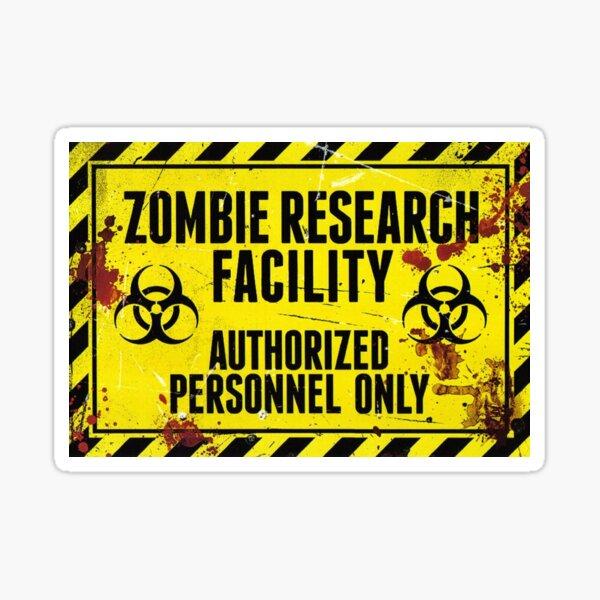 Zombie Research Facility - ¡Miedo! Pegatina