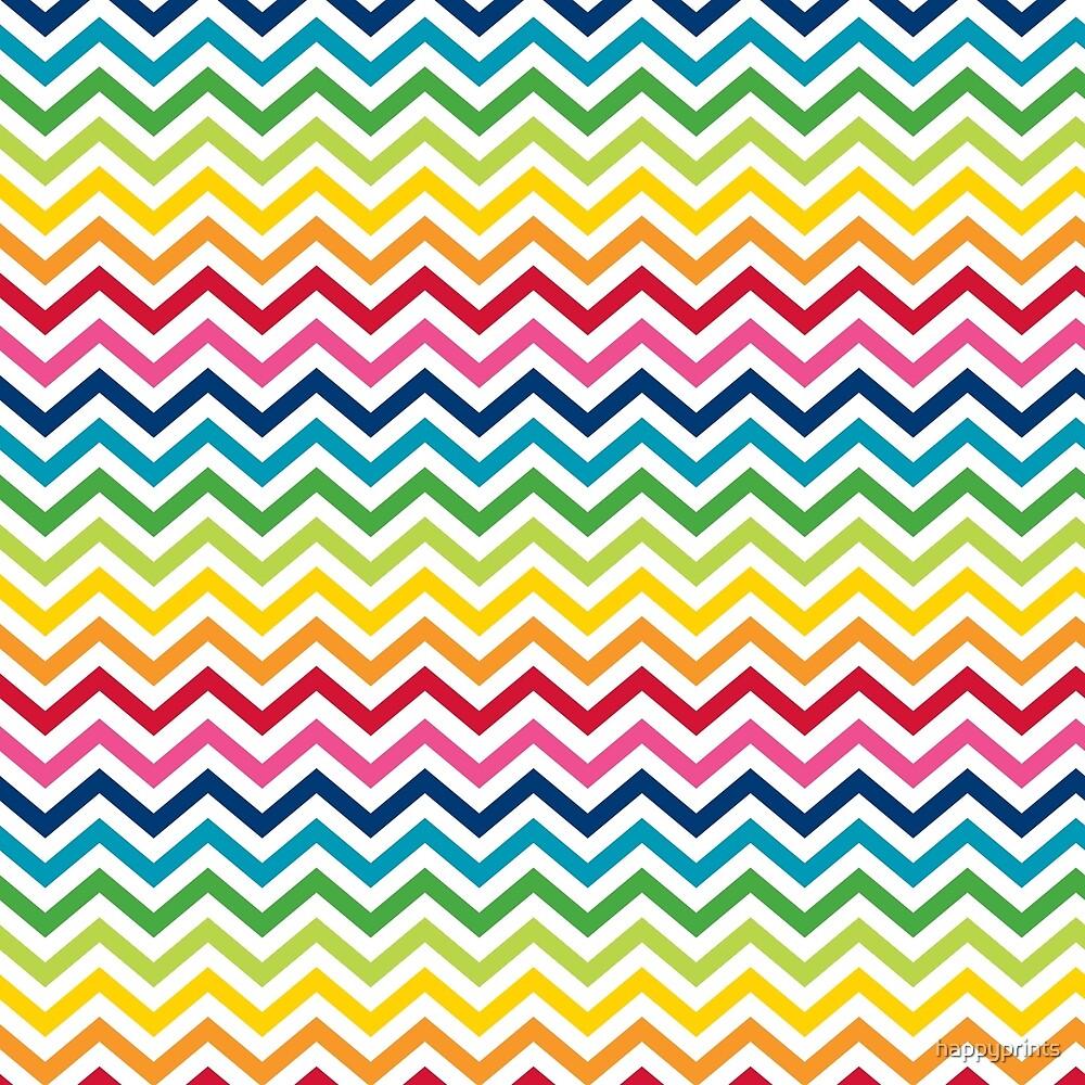 Quot Rainbow Chevron Quot By Happyprints Redbubble