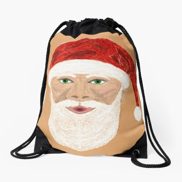Santa Claus version 2 Drawstring Bag