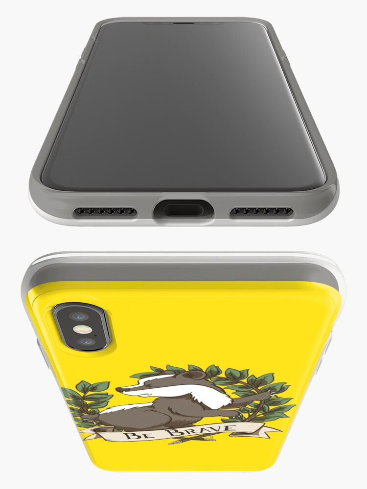 Alternate view of Be Brave Badger Crest iPhone Case & Cover