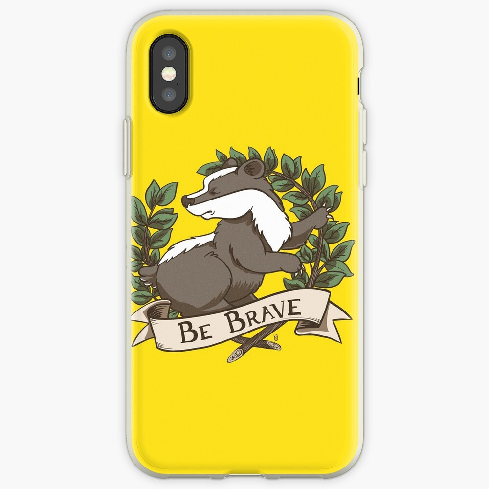 Be Brave Badger Crest iPhone Case & Cover