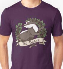 Be Brave Badger Crest T-Shirt