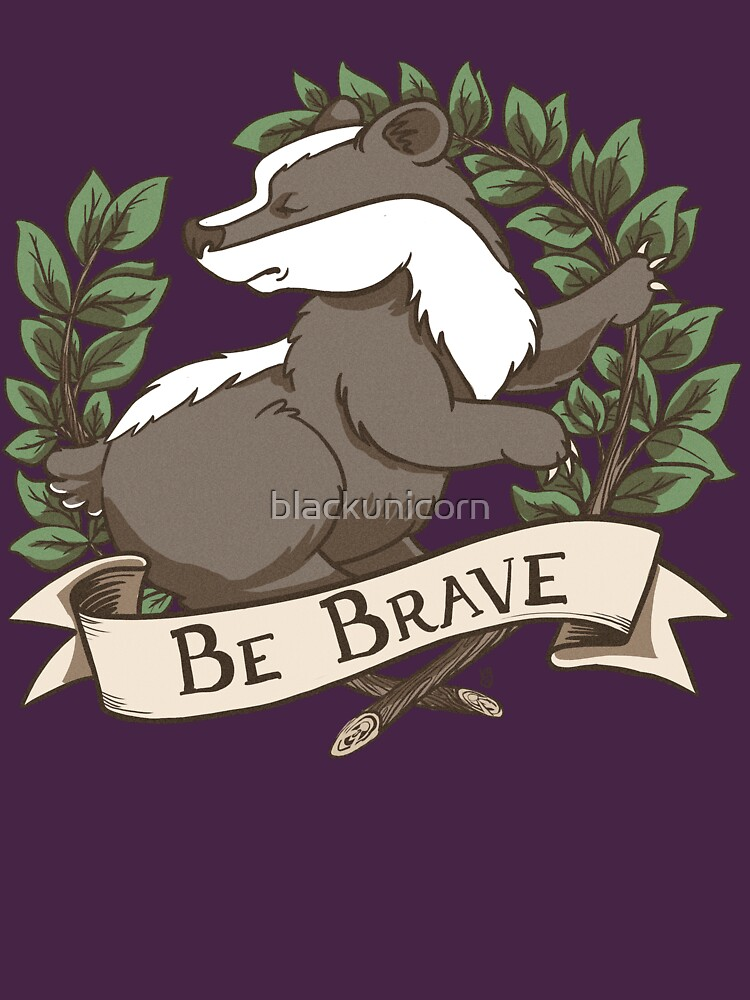 TShirtGifter presents: Be Brave Badger Crest | Unisex T-Shirt