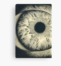Charcoal Eye Canvas Print