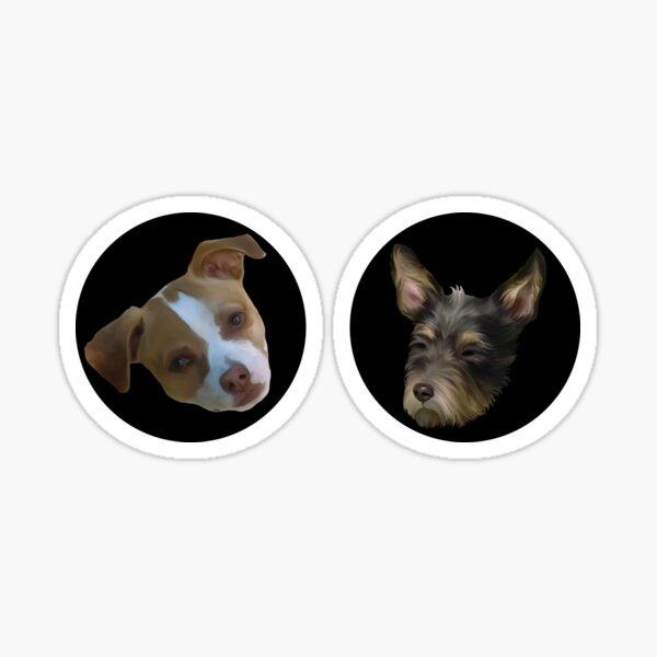 Two Cute Dog Valentines Glossy Sticker
