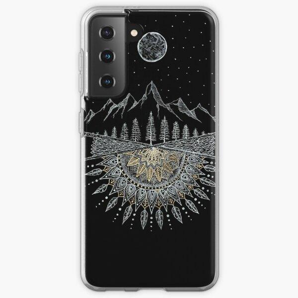Moon and Stars Night Sky Mountain Range Arrow Mandala Samsung Galaxy Soft Case