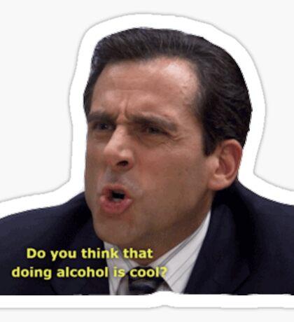 Doing Alcohol Sticker