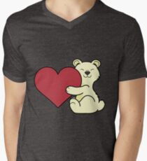 Valentine's Day Kermode Bear with Red Heart T-Shirt