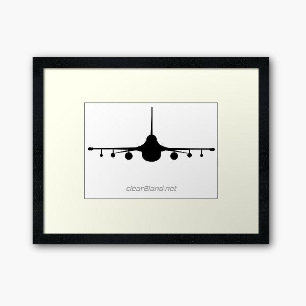 F-16 Clear2land Framed Art Print