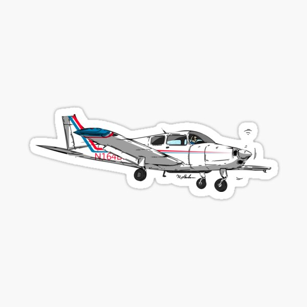 Beechcraft Musketeer N164DA Sticker