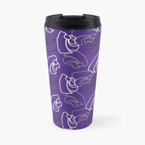 K-State Powercat Pattern, Purple Travel Mug
