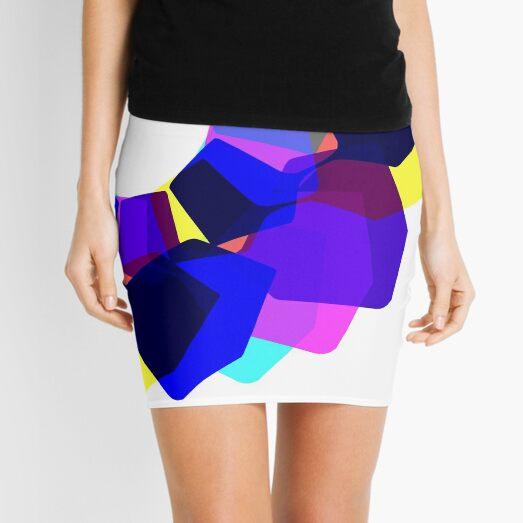 Techno Dudes Flower 2 (blue) Mini Skirt