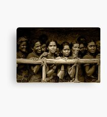 Hindu Pilgrims on New Year's Day Canvas Print