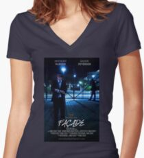 Façade Poster Women's Fitted V-Neck T-Shirt